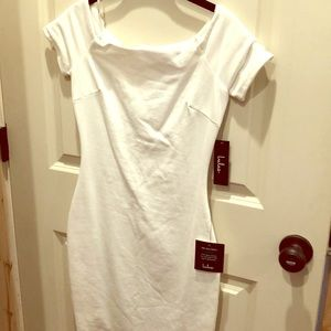 Lulus white fitted dress-new with tags
